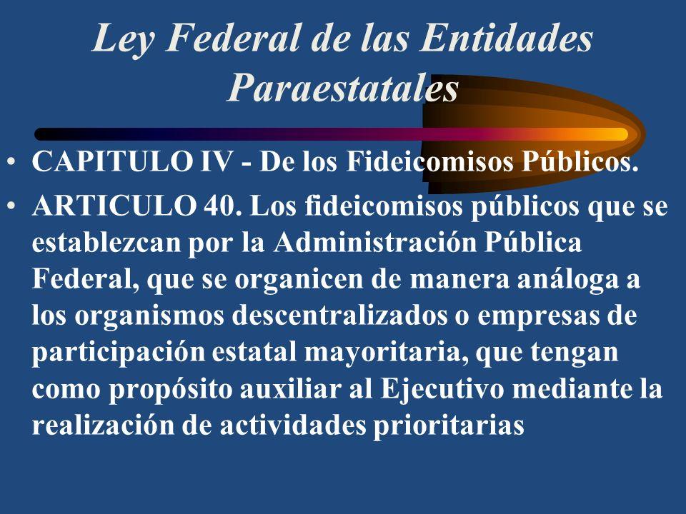 Ley Federal de las Entidades Paraestatales