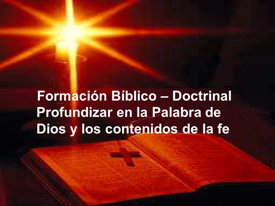 Formación Bíblico – Doctrinal