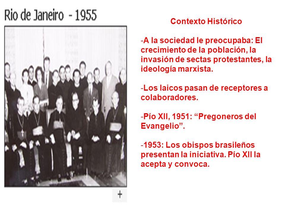 Contexto Histórico A la sociedad le preocupaba: El crecimiento de la población, la invasión de sectas protestantes, la ideología marxista.