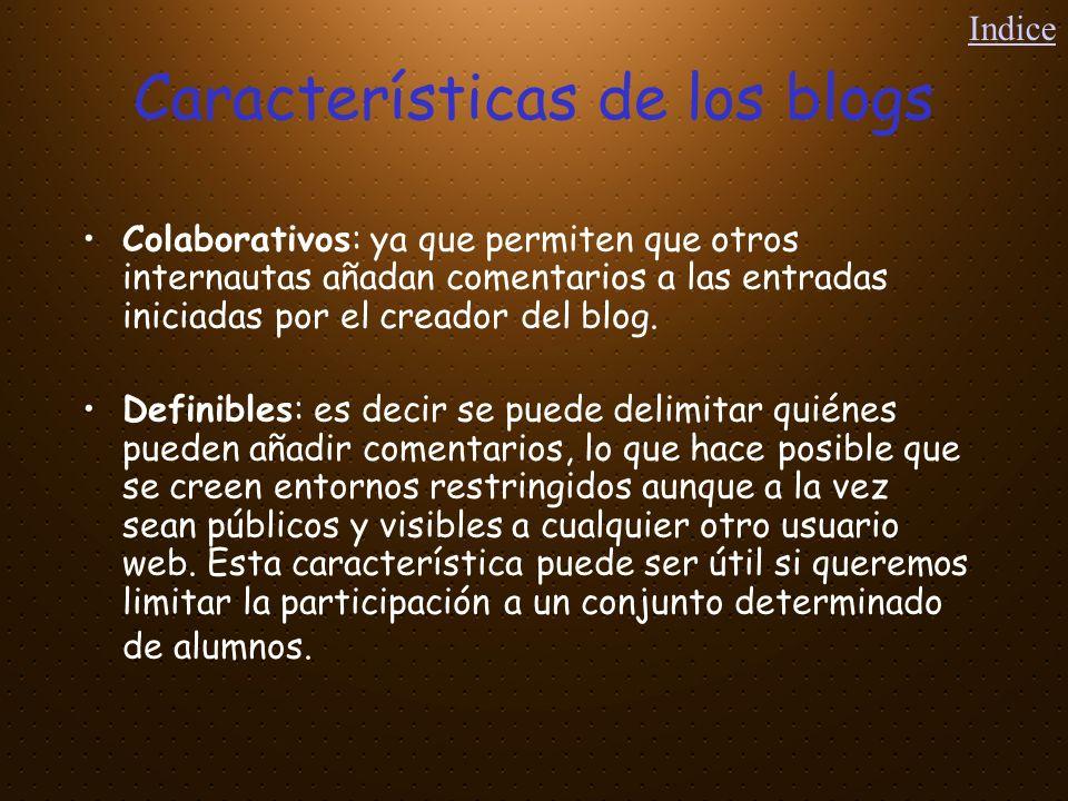 Características de los blogs