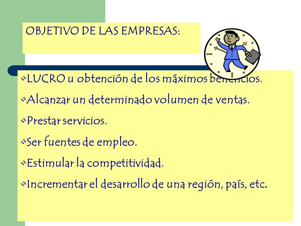 OBJETIVO DE LAS EMPRESAS: