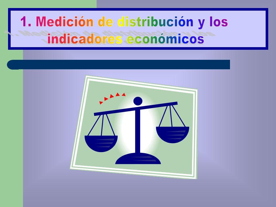 1. Medición de distribución y los indicadores económicos