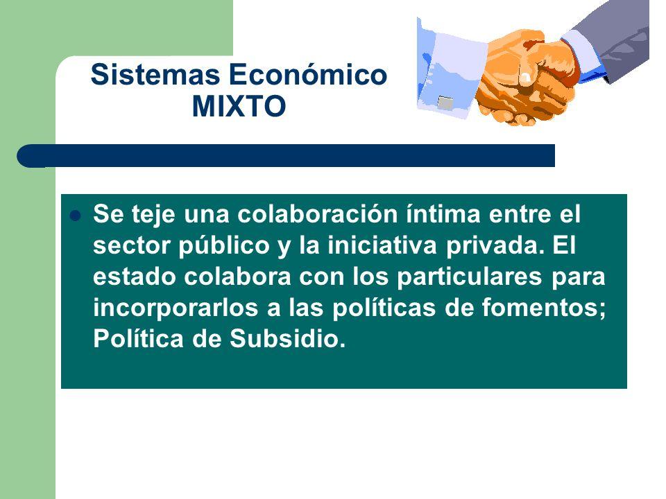 Sistemas Económico MIXTO