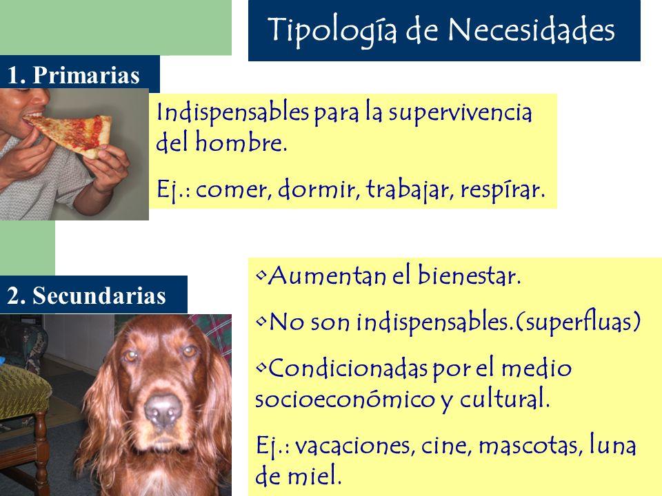 Tipología de Necesidades