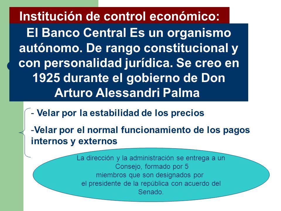 Institución de control económico: