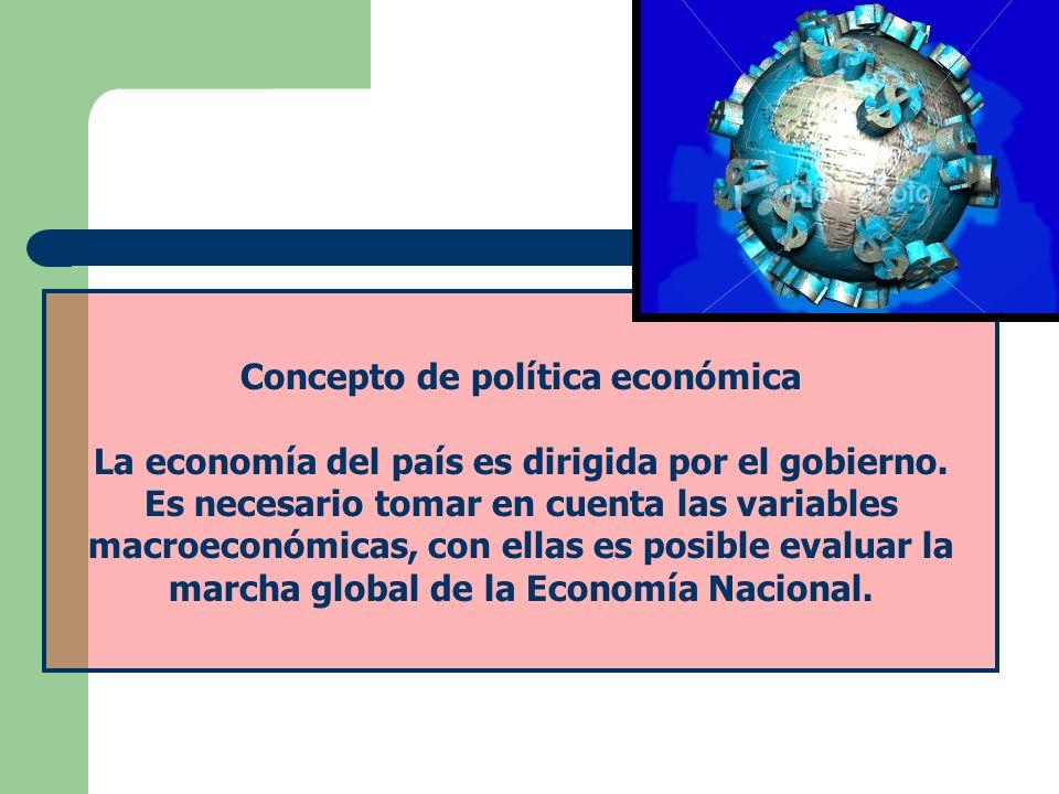 Concepto de política económica