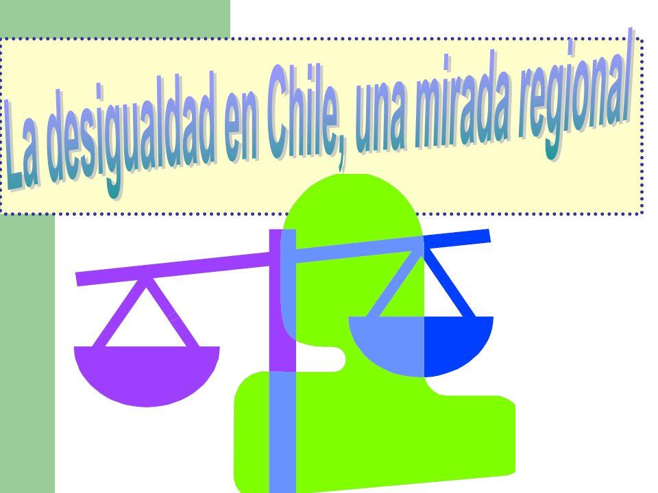 La desigualdad en Chile, una mirada regional