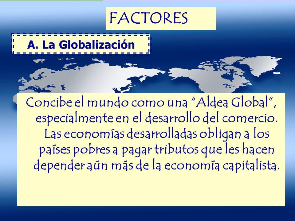 FACTORES A. La Globalización.