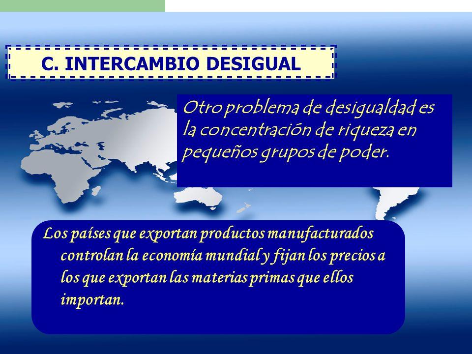 C. INTERCAMBIO DESIGUAL