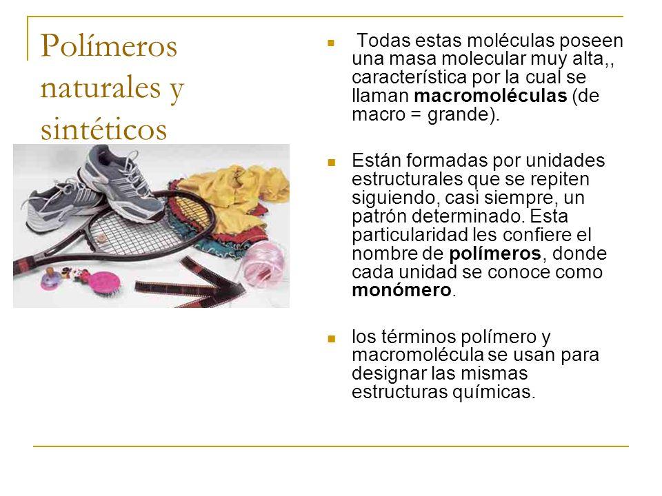 Polímeros naturales y sintéticos