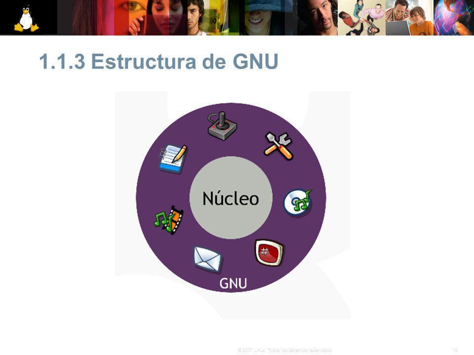 1.1.3 Estructura de GNU