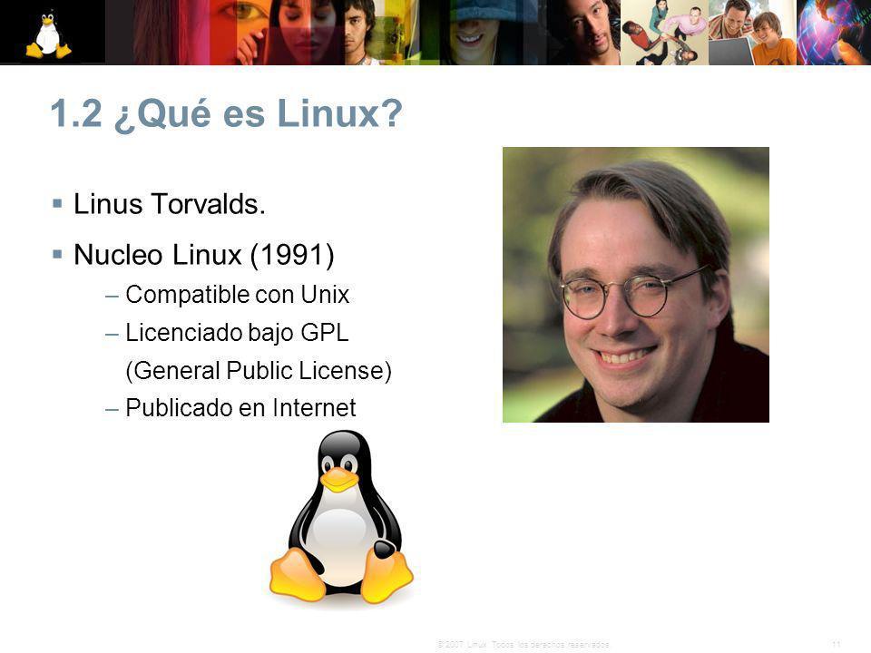 1.2 ¿Qué es Linux Linus Torvalds. Nucleo Linux (1991)