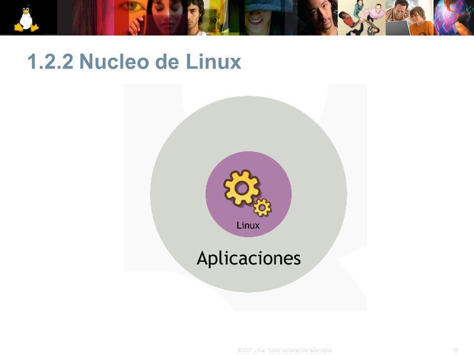 1.2.2 Nucleo de Linux 16