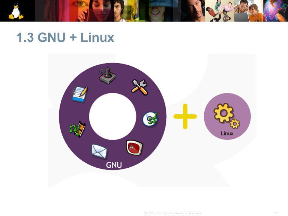1.3 GNU + Linux 19