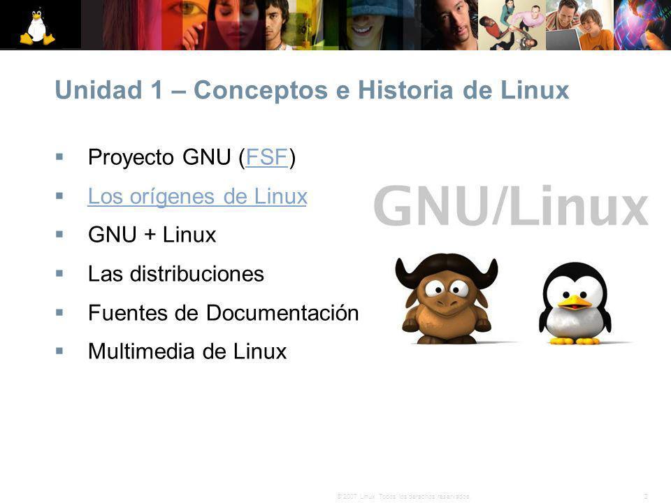 Unidad 1 – Conceptos e Historia de Linux