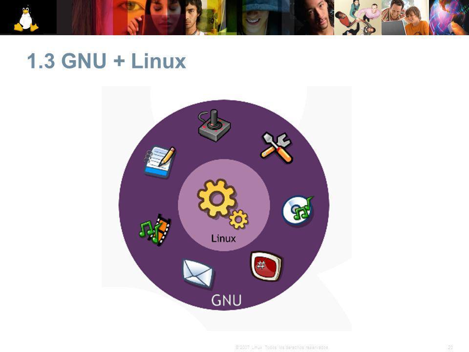 1.3 GNU + Linux 20