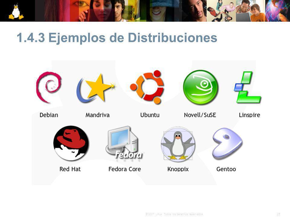 1.4.3 Ejemplos de Distribuciones