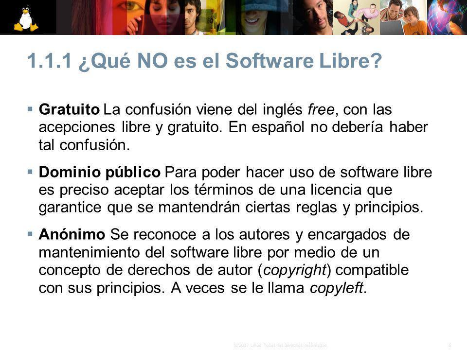 1.1.1 ¿Qué NO es el Software Libre