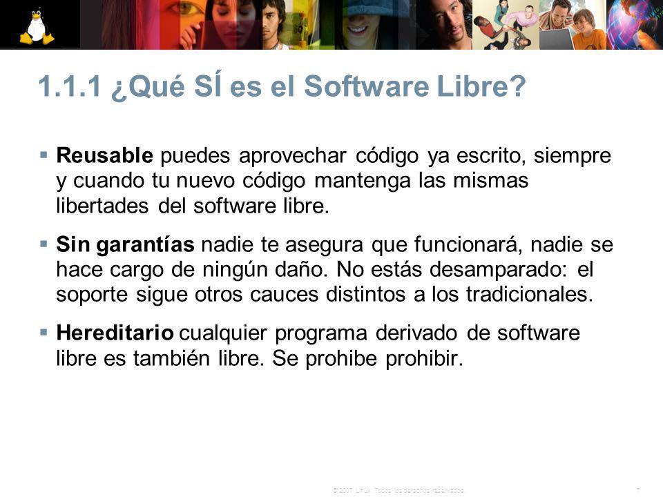 1.1.1 ¿Qué SÍ es el Software Libre