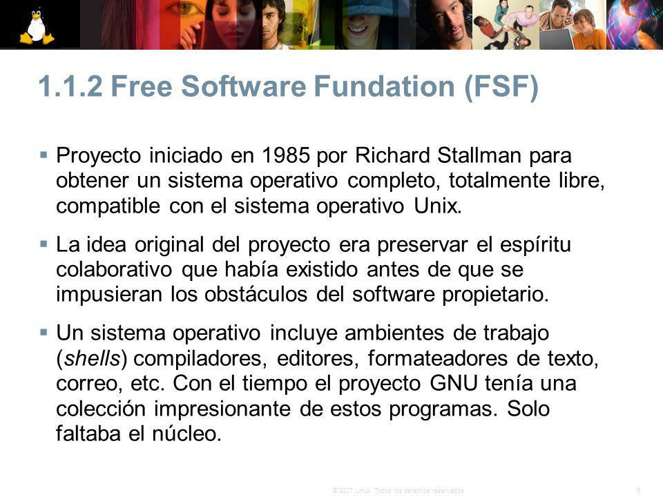 1.1.2 Free Software Fundation (FSF)