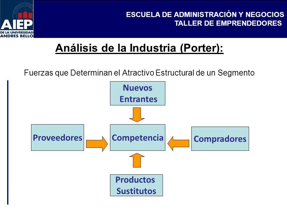 Análisis de la Industria (Porter): Fuerzas que Determinan el Atractivo Estructural de un Segmento