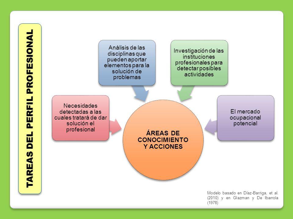 ÁREAS DE CONOCIMIENTO Y ACCIONES