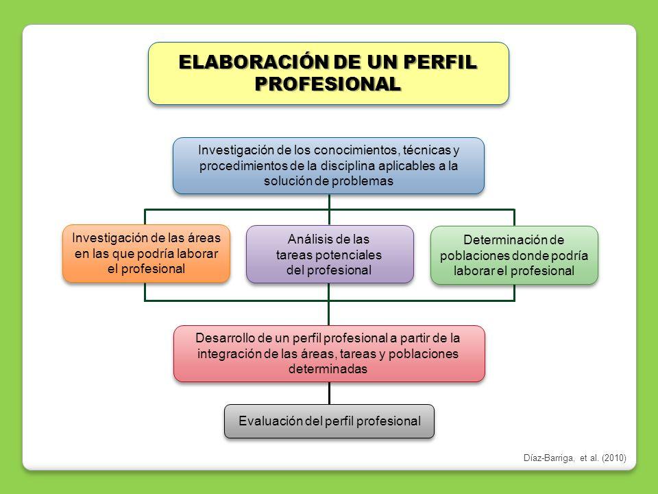 ELABORACIÓN DE UN PERFIL PROFESIONAL