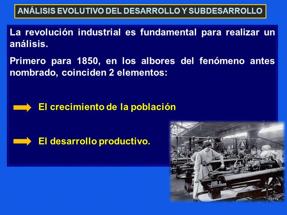 La revolución industrial es fundamental para realizar un análisis.