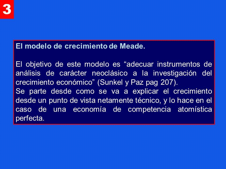 3 El modelo de crecimiento de Meade.