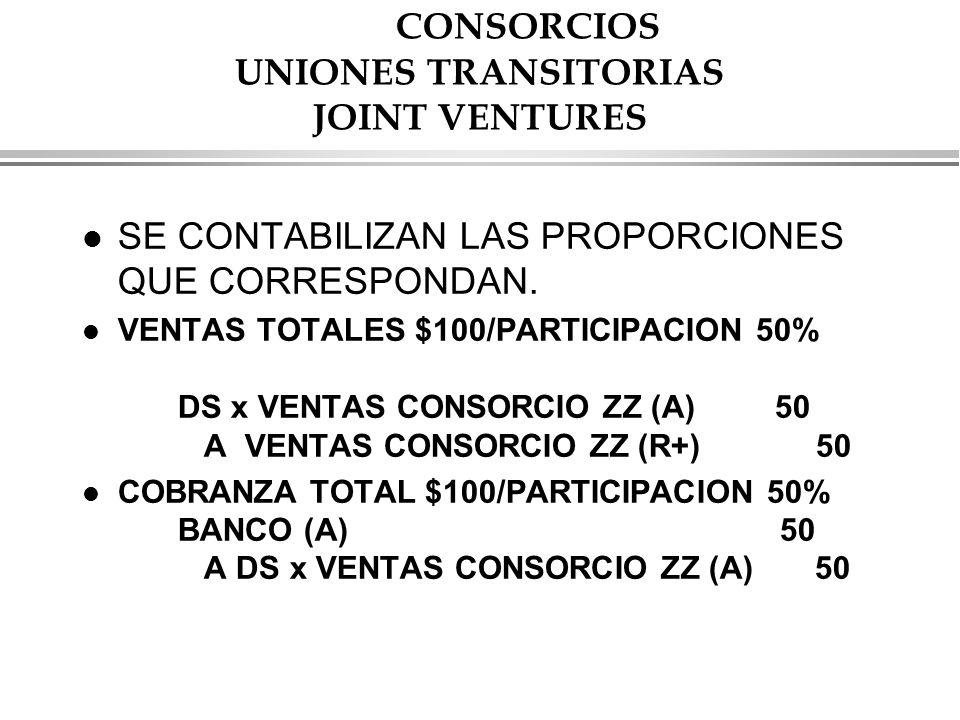 CONSORCIOS UNIONES TRANSITORIAS JOINT VENTURES
