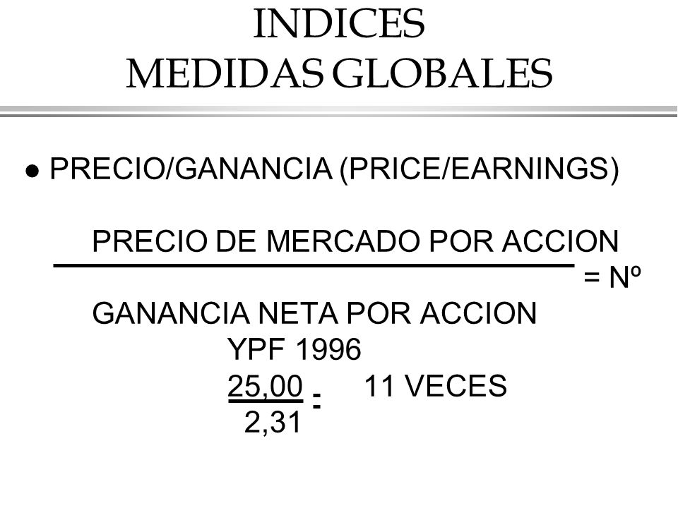 INDICES MEDIDAS GLOBALES