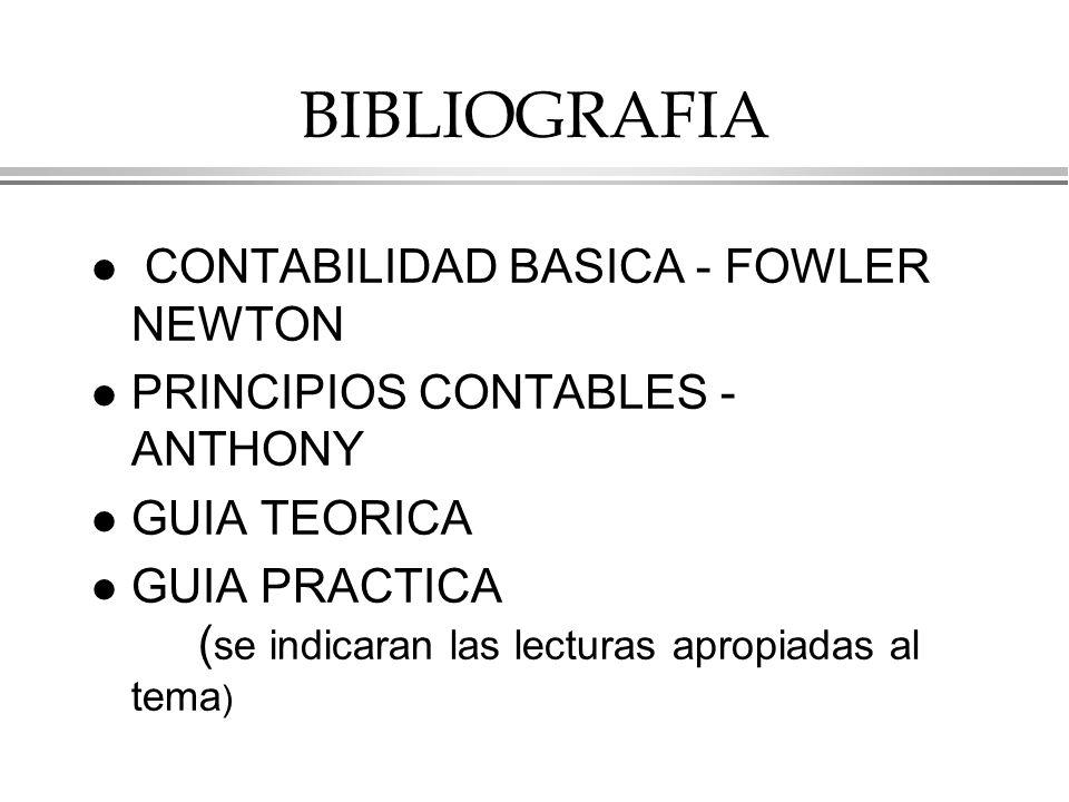 BIBLIOGRAFIA CONTABILIDAD BASICA - FOWLER NEWTON
