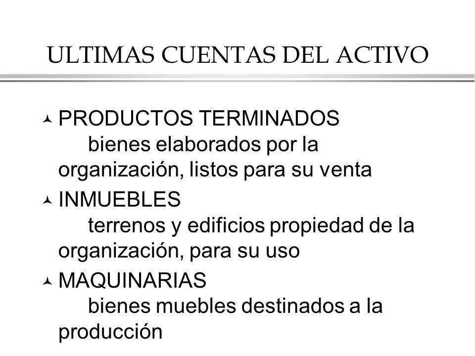ULTIMAS CUENTAS DEL ACTIVO