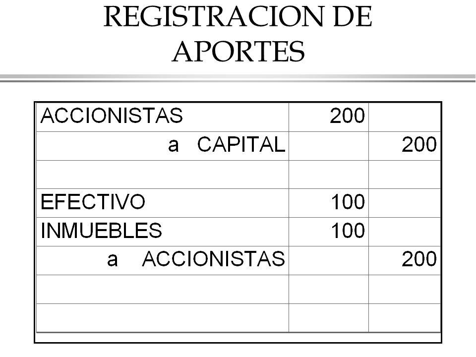 REGISTRACION DE APORTES
