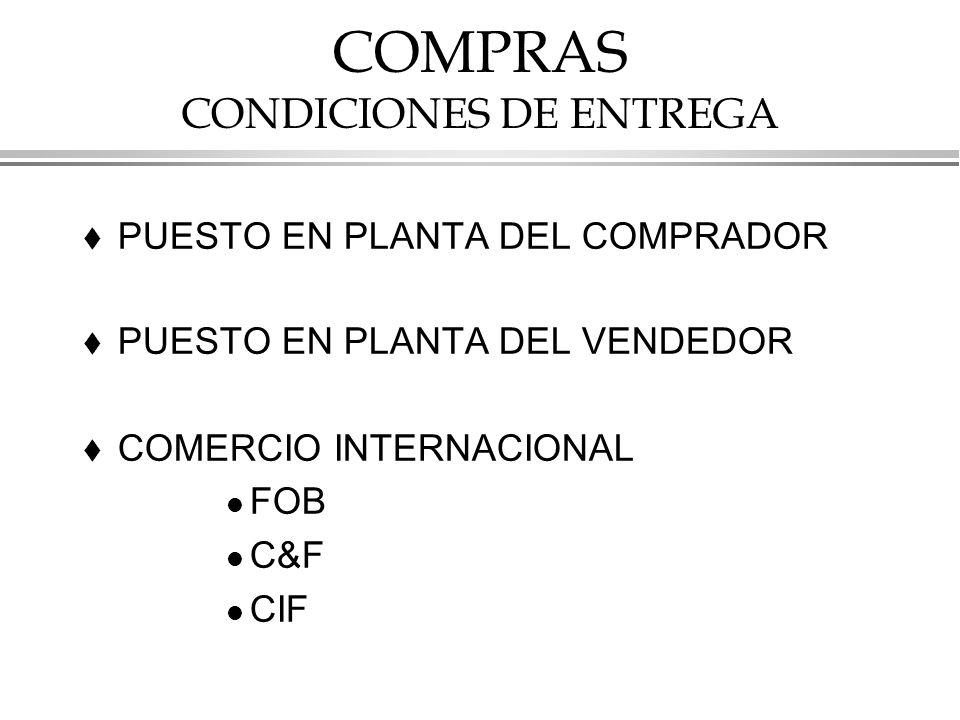 COMPRAS CONDICIONES DE ENTREGA
