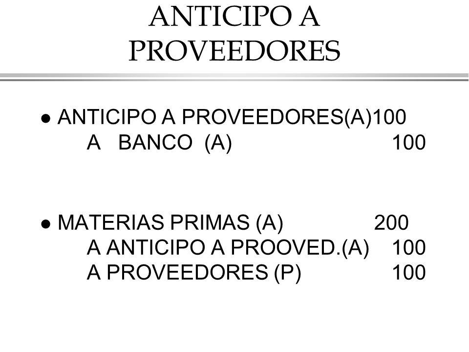ANTICIPO A PROVEEDORES