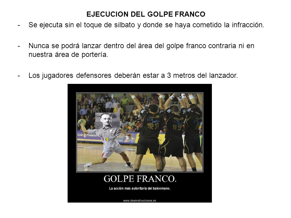 EJECUCION DEL GOLPE FRANCO