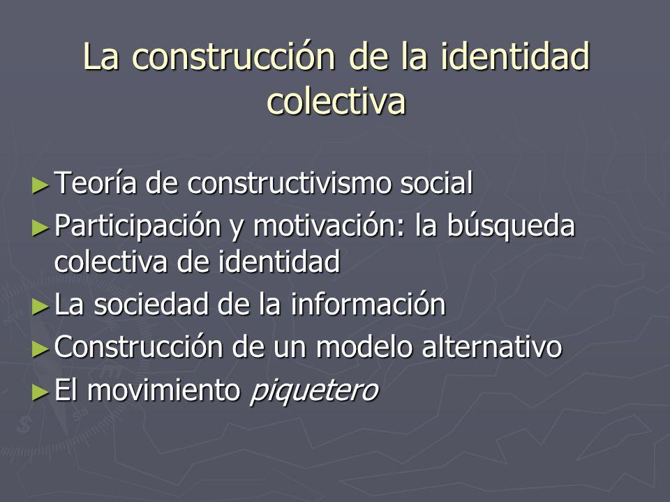 La construcción de la identidad colectiva