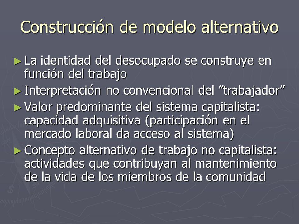 Construcción de modelo alternativo