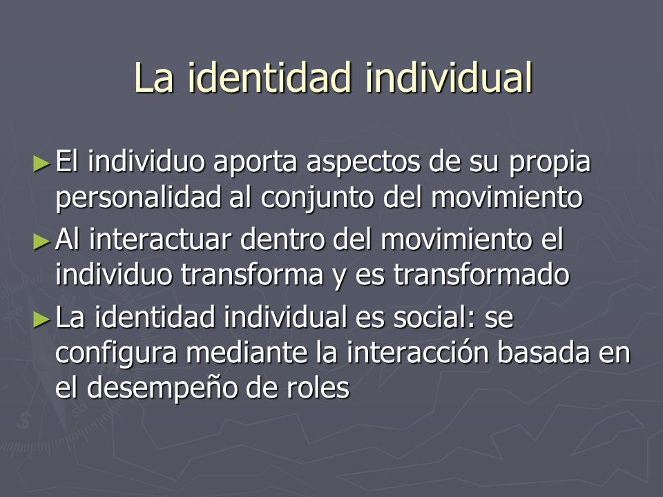 La identidad individual