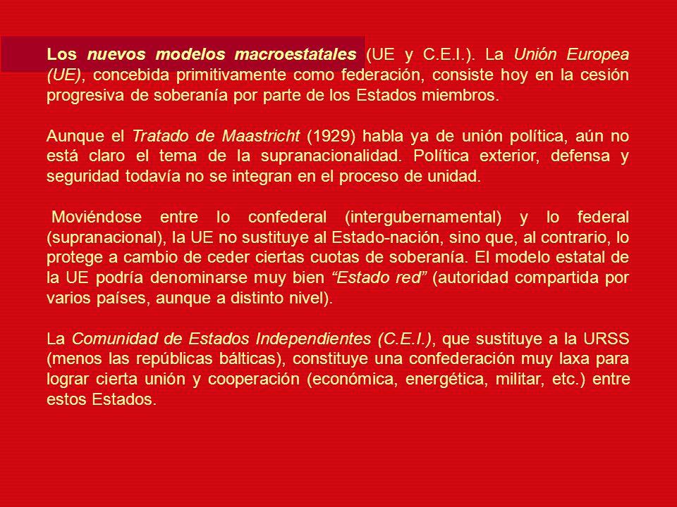 Los nuevos modelos macroestatales (UE y C. E. I. )