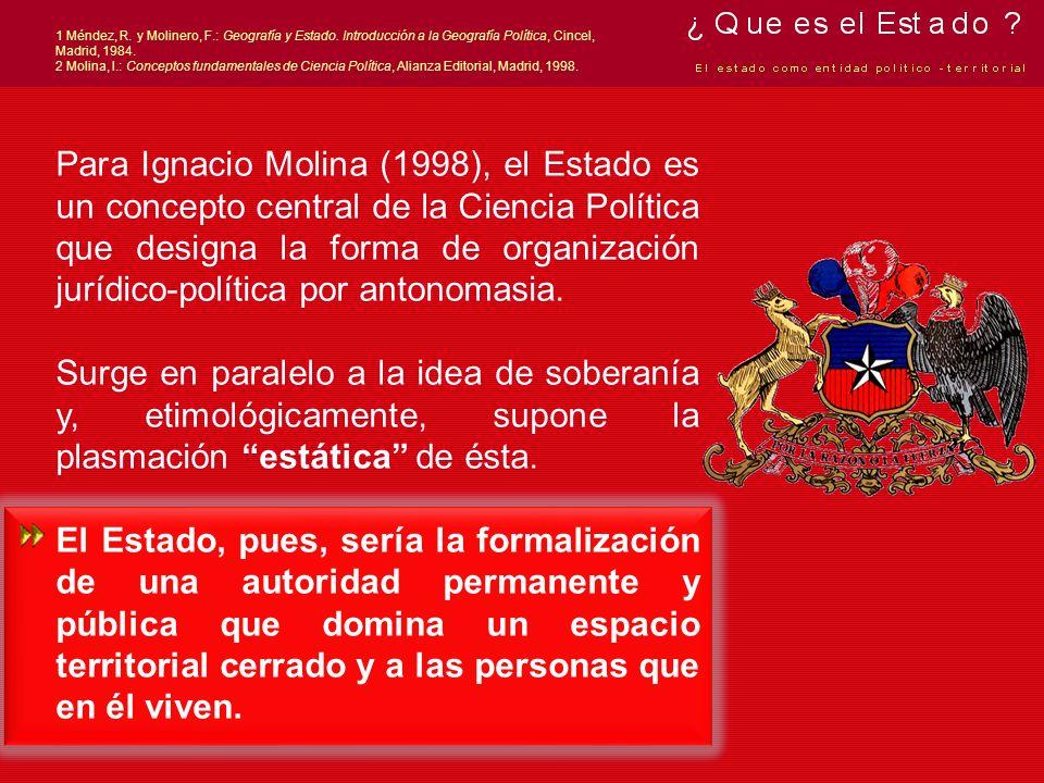 1 Méndez, R. y Molinero, F. : Geografía y Estado
