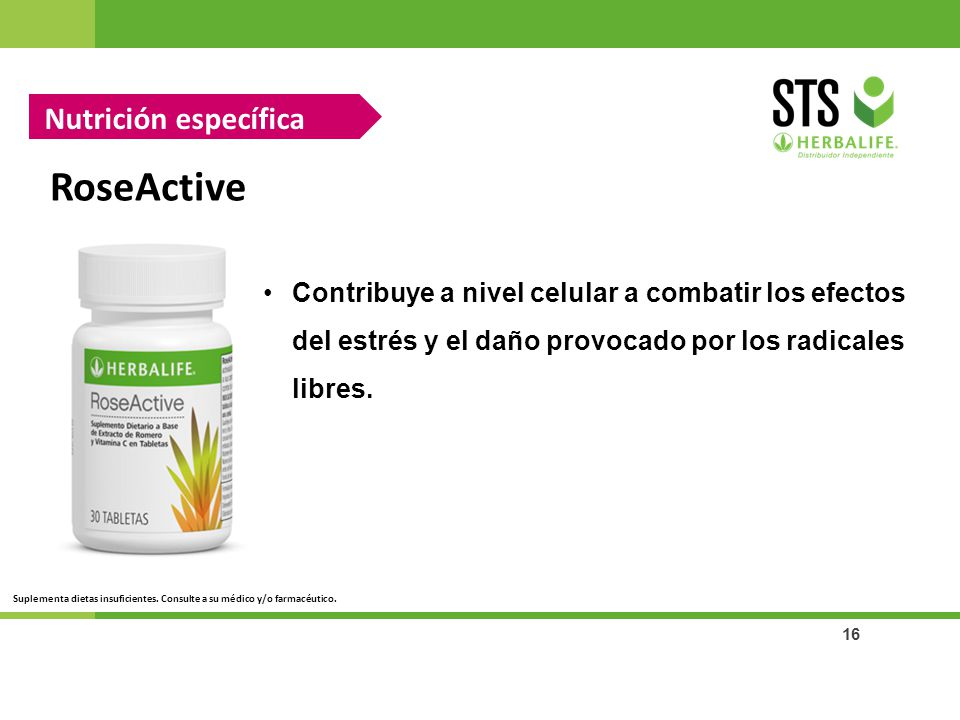 RoseActive Nutrición específica