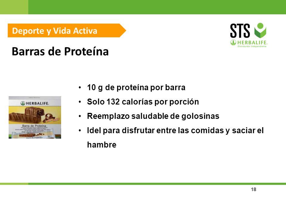 Barras de Proteína Deporte y Vida Activa 10 g de proteína por barra