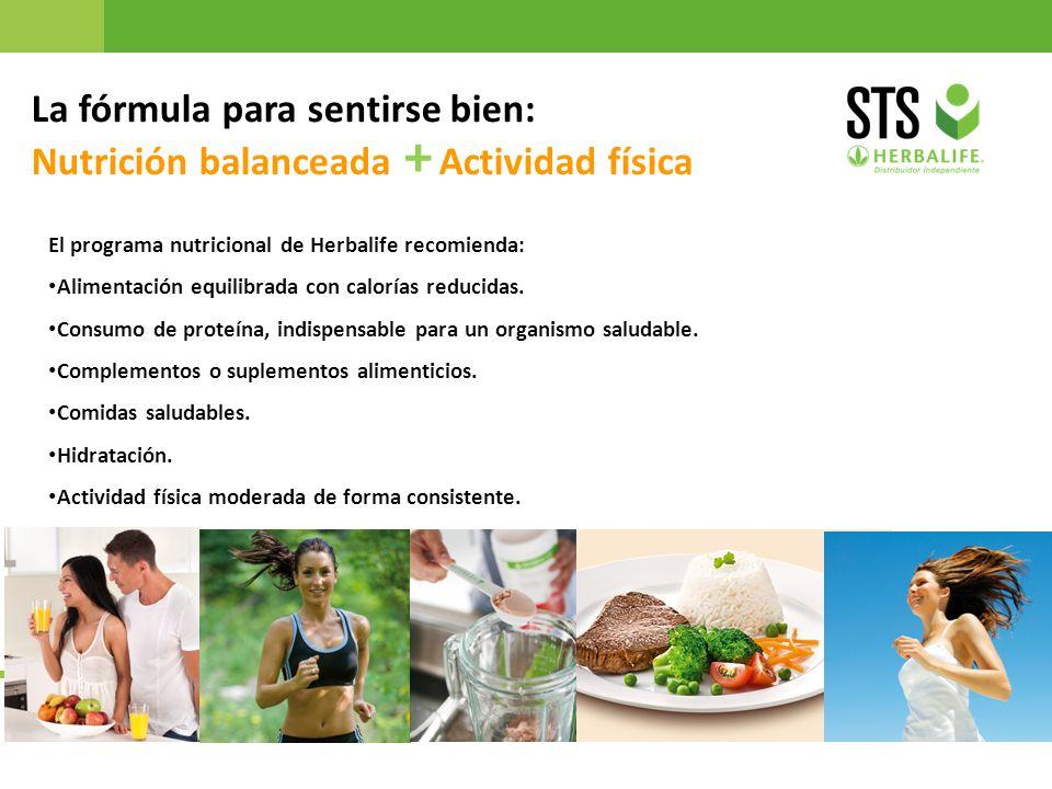 La fórmula para sentirse bien: Nutrición balanceada + Actividad física