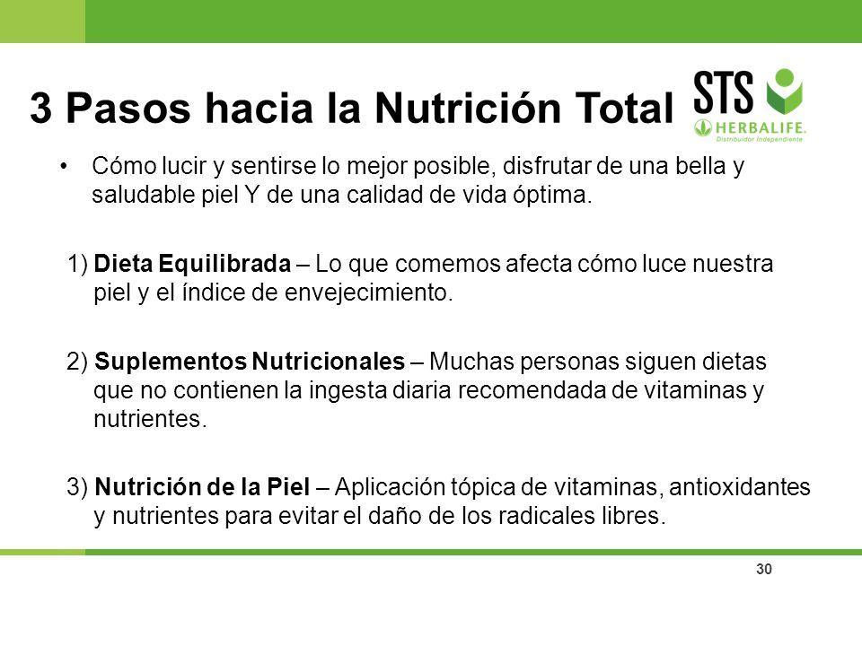 3 Pasos hacia la Nutrición Total
