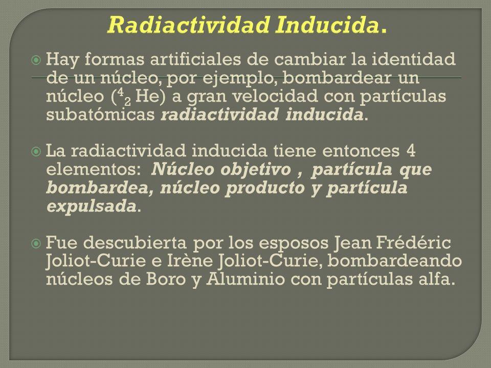 Radiactividad Inducida.