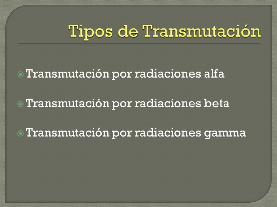 Tipos de Transmutación