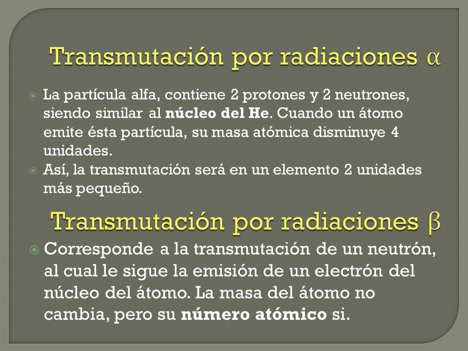 Transmutación por radiaciones α