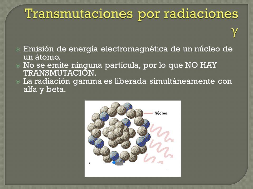 Transmutaciones por radiaciones γ